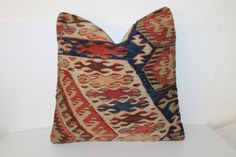 16x16 Kilim Pillow, Vintage Pillows, 40x40 cm