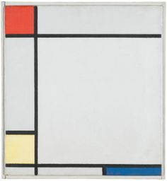 PIET MONDRIAN COMPOSITION WITH RED, YELLOW AND BLUE 1927.
