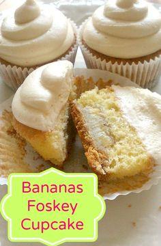Bananas Foskey Cupcake ~ A Tasty Twist on Bananas Foster
