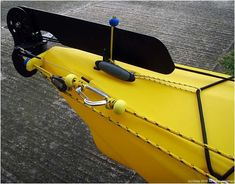I thought I would explain how I have fitted my anchor trolley and rudder system – I also solved a few existing problems on the way. The anchor trolley is fairly standard – Yellow chopping boa…