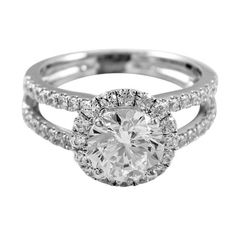Jewelry & Watches Obliging 0.95 Cts 18k White Gold Three Stone Diamond Engagement Ring Setting In Many Styles