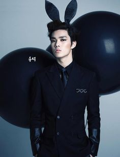 Yongseok cross gene. You can't take him seriously with those bunny ears