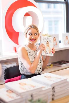 Lauren Conrad signing copies of Celebrate at Pinterest headquarters