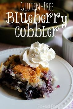 "Gluten-Free Blueberry Cobbler - ""the best gluten free dessert you've made"" Best Gluten Free Desserts, Dessert Sans Gluten, Gluten Free Cakes, Foods With Gluten, Gluten Free Cooking, Best Gluten Free Apple Pie Recipe, Gluten Free Pie, Lactose Free, Healthy Desserts"