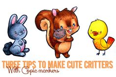 Crafty Ellen H: Inky Thoughts: Tips to make cute critters with copic markers