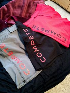 """Compete Training Shorts (87% polyester, 13% spandex) - 4 way stretch shorts with 3"""" slit for increased movement on side.    $50"""
