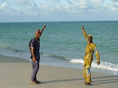 Guludo's Idris & Amisse loving Jack's epic kitesurfing trip up the coast of northern Mozambique