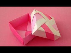 Origami Unit box with lid instructions 折り紙のユニット箱 簡単な折り方 - YouTube
