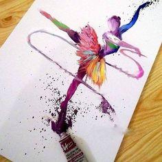 Art, dance, and ballet image Colorful Drawings, Art Drawings, Dibujos Tumblr A Color, Videos Kawaii, Ballerina Painting, Ballerina Art, Art Visage, Ballet Images, Ballet Dancers