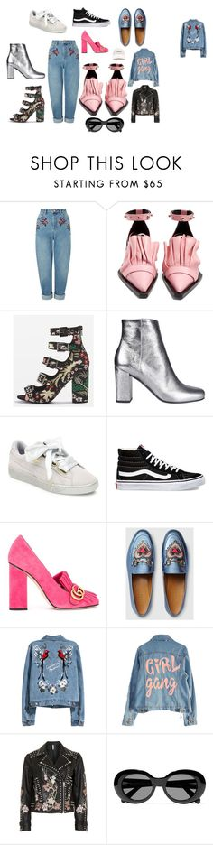 """Wish List"" by mapaulavd on Polyvore featuring Miss Selfridge, Marques'Almeida, Topshop, Yves Saint Laurent, Puma, Vans, Gucci, Acne Studios and Forever 21"