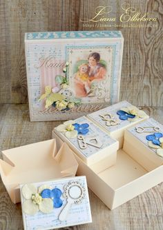 Baby treasure box with graphic 45 paper шкатулка мамины сокровища