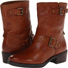 Franco Sarto Braid boots in dark brown leather