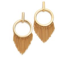 Ettika Closed Curves Earrings (2,895 INR) ❤ liked on Polyvore featuring jewelry, earrings, earring jewelry, 18k jewelry, fringe jewelry, 18 karat gold jewelry and gold plated jewellery