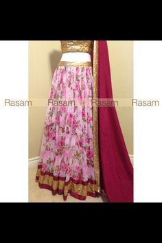 Rasam - Floral Lengha