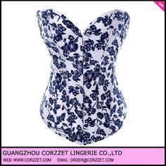 forte tessuto denim stampe floreali cotone corsetti e bustini sexy elegante per le donne--Id prodotto:624767049-italian.alibaba.com