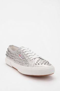 Superga Glitter Stud Low-Top Sneaker