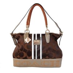 Look Here! Coach Braided In Signature Large Coffee Totes BFR Outlet Online