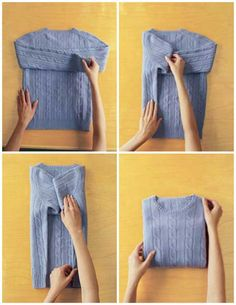 How to fold a Sweater like in the store