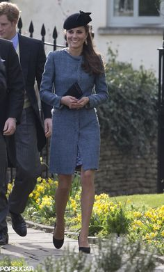 Duke and Duchess of Cambridge, and Prince Harry attend a Wedding, 3/29/14 #katemiddleton