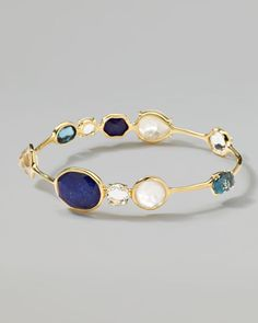 Ippolita - 18k Gold Rock Candy Open Gelato Kiss Bangle, Corsica    The more you wear, the better the effect. MARVELOUS DARLING!!!!
