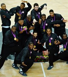 Images from the men's basketball medal ceremony. The United States beat Spain for gold, while Russia captured bronze.
