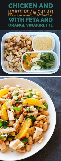 MONDAY: Chicken and White Bean Salad with Feta and Orange Vinaigrette