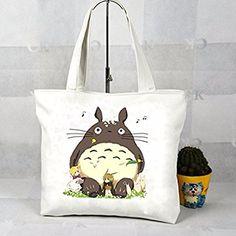 Schultertasche Tasche Shoulder Bag Canvas Messenger Turnbeutel Rucksack Anime reisetaschen Katze Fett totoro