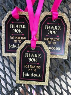 FORTY AND FABULOUS 40 and Fabulous Favor Tags 40th Party