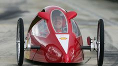 Schumacher in the Shell Eco Racer