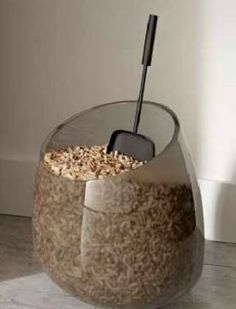 Pellet storage in Sleek Style! Who says that you have to deal with a ripped open half full pellet fuel bag on your hearth all winter? Get creative - we will show you how!