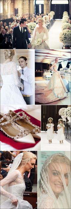Caroline Trentini's wedding day. Details.