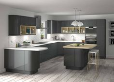 white & grey corridor kitchen ideas - Google Search