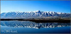 F-10334 Wellsville Mtns & Bear River, Utah ~ Brent Russell Paull - American West Photography