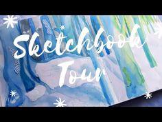Illustration Sketchbook Tour - YouTube Watercolors, Watercolor Paintings, Sketchbook Tour, Painting Process, Fantasy Art, Neon Signs, Tours, Wall Art, Illustration