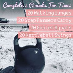 Get your week started! Use two kettlebells for the lunges and farmers carry, if you are feeling ambitious use two for the swings as well. Use a weight you feel will challenge you, you can use different weights for different movements  #kettlebell #kettleb https://www.kettlebellmaniac.com/kettlebell-exercises/