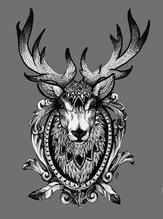 Wild Spirit - Deer/Stag www.myblackangelus.tumblr.com
