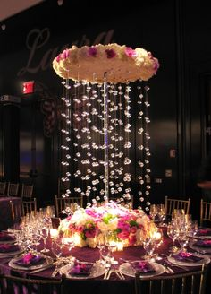 Whether you're planning a wedding, bar or bat mitzvah, Sweet 16 or other event, we're sure centerpieces are on the agenda. Here are four unique ways to make your centerpieces stand out! Use Creative Vases. Diy Reception Decorations, Unique Wedding Centerpieces, Event Decor, Marriage Decoration, Diy Decoration, Decor Ideas, Hall Deco, Wedding Table, Wedding Reception