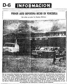 """""""Primer auto deportivo hecho en Venezuela"""" Publicado en El Nacional el 17 de diciembre de 1963"""