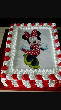 Toddler Birthday Cakes, Minnie Mouse Birthday Cakes, Mickey Mouse Cake, Minnie Mouse Cake, Happy Birthday, Cupcake Cakes, Cupcakes, Wedding Cake Roses, Mickey Party