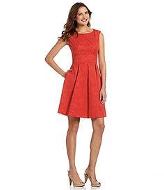 Adrianna Papell Petites Floral Jacquard Dress #Dillards