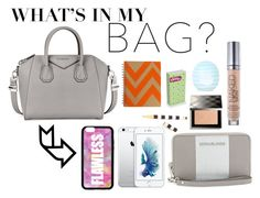 """""""everyday bag essencials"""" by ines-6 ❤ liked on Polyvore featuring beauty, Givenchy, Forever 21, Henri Bendel, MICHAEL Michael Kors, Burberry, Urban Decay, Topshop and inmybag"""