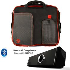 PINDAR Messenger Shoulder Carrying Bag Durable Case (Red Trim) For ViewSonic ViewPad E100, 10s, 10, 10Pro, 10pi, 10e Tablet The Pindar Messenger Shoulder Bag was build Stylish, Slim and Protective.. Made out of High Quality Durable water-resistant nylong material that protects your device and accessories from bumps, dents and scratches!. Stream music for your Phone, Tablet, PC, or any Bluetooth en... #VG-VANGODDY #Photography