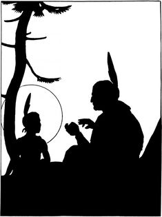 Vintage Native Americans Image - Silhouette! - The Graphics Fairy