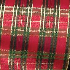 """Red, Green, and Gold Christmas Tartan Wired Craft Ribbon 6"""" x 20 Yards -- Read more reviews of the product by visiting the link on the image."""