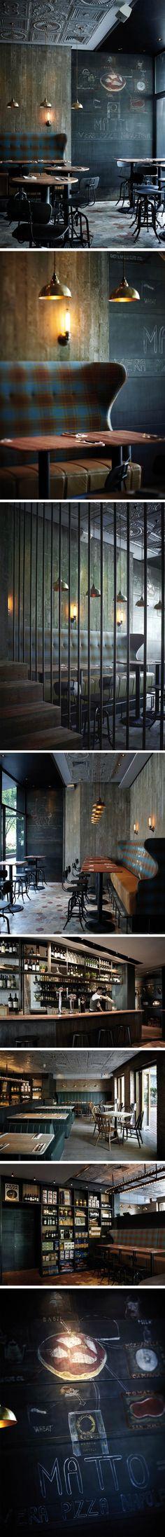 L'adresse italienne incontournable en Chine Designé par Yenn Wong, la pizzeria et bar MATTO c'est aussi beau que bon ! Ce lieu dépeint dans le paysage de l