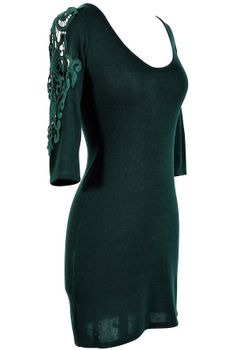 Forest Green Crochet Lace Knit Dress - and this might just be the dress I've been looking for :)
