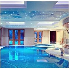 Indoor pool Mansion Dreams ❤ liked on Polyvore featuring house, photos, rooms and home