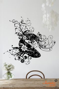 Floral Fish Art Decal by ChamberDecals on Etsy