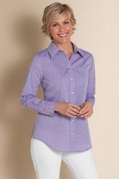 Stella Shirt - Rhinstone Button Top, Button Up Top   Soft Surroundings