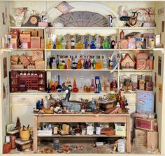 Miniature Pharmacy Charles Wysocki Dollhouse Miniature by MiniatureMadness on Flickr